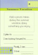 Write about your summer vacation