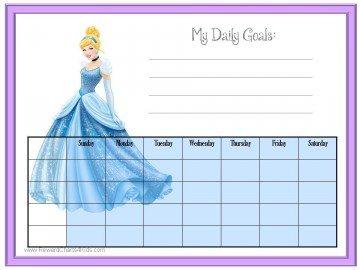 cinderella behavior chart