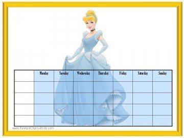 Cinderella Reward Chart