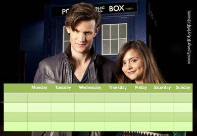 Weekly reward chart with a Dr Who theme