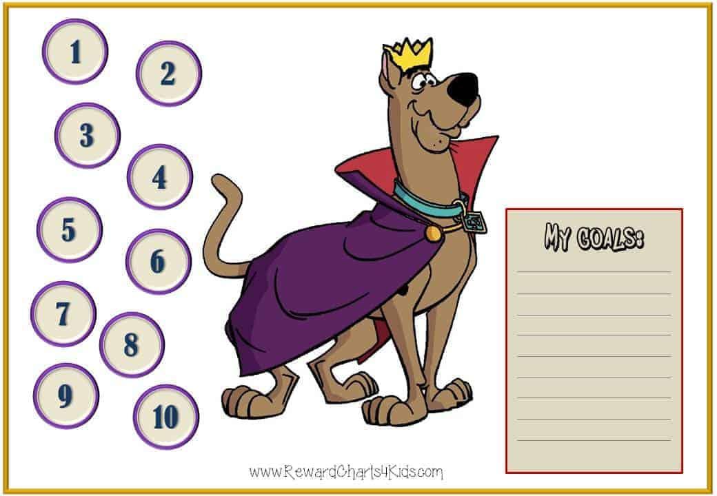 Scooby Doo Behavior Charts