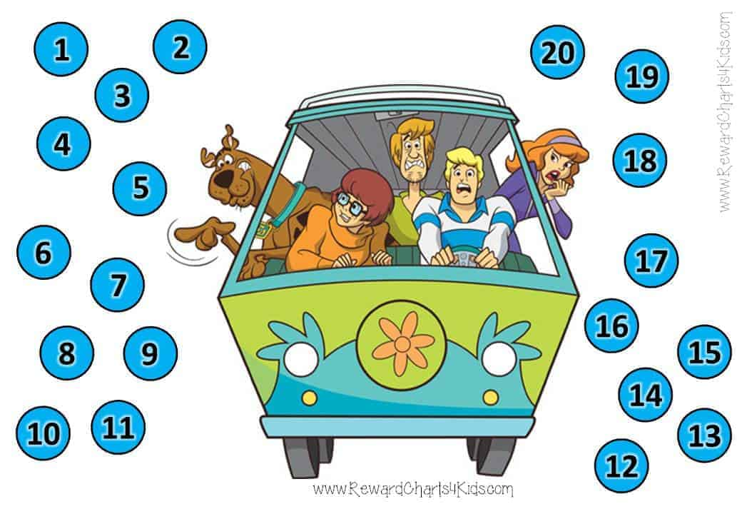 Scooby Doo Behavior Charts