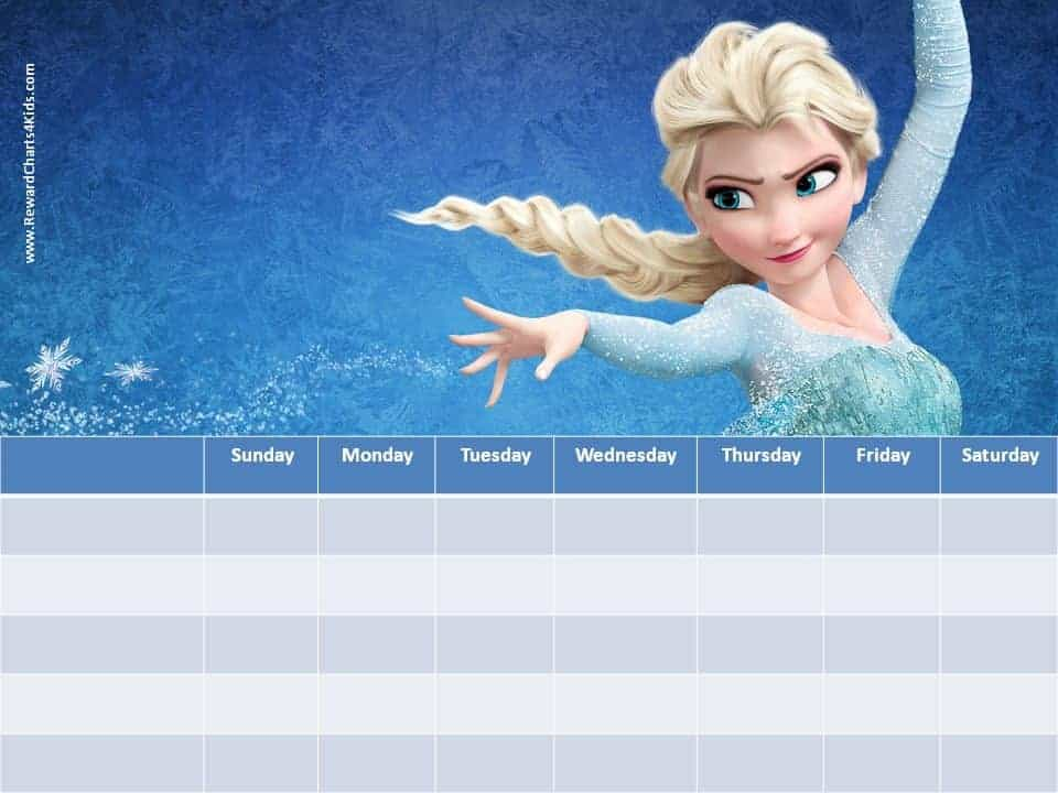 frozen sticker charts