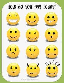 feeling faces chart