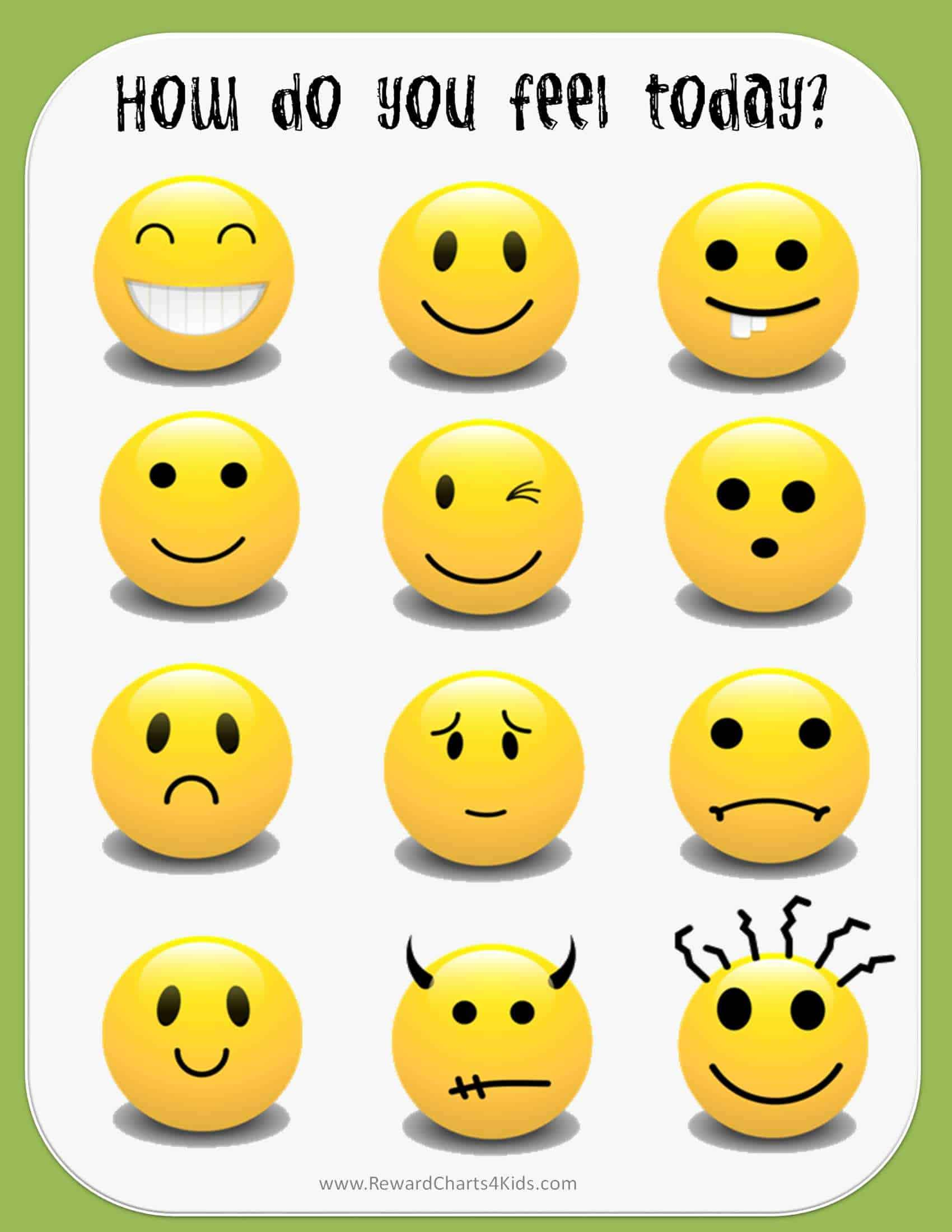 photograph regarding Emoji Feelings Printable known as Totally free Printable Emotions Chart Immediate Obtain