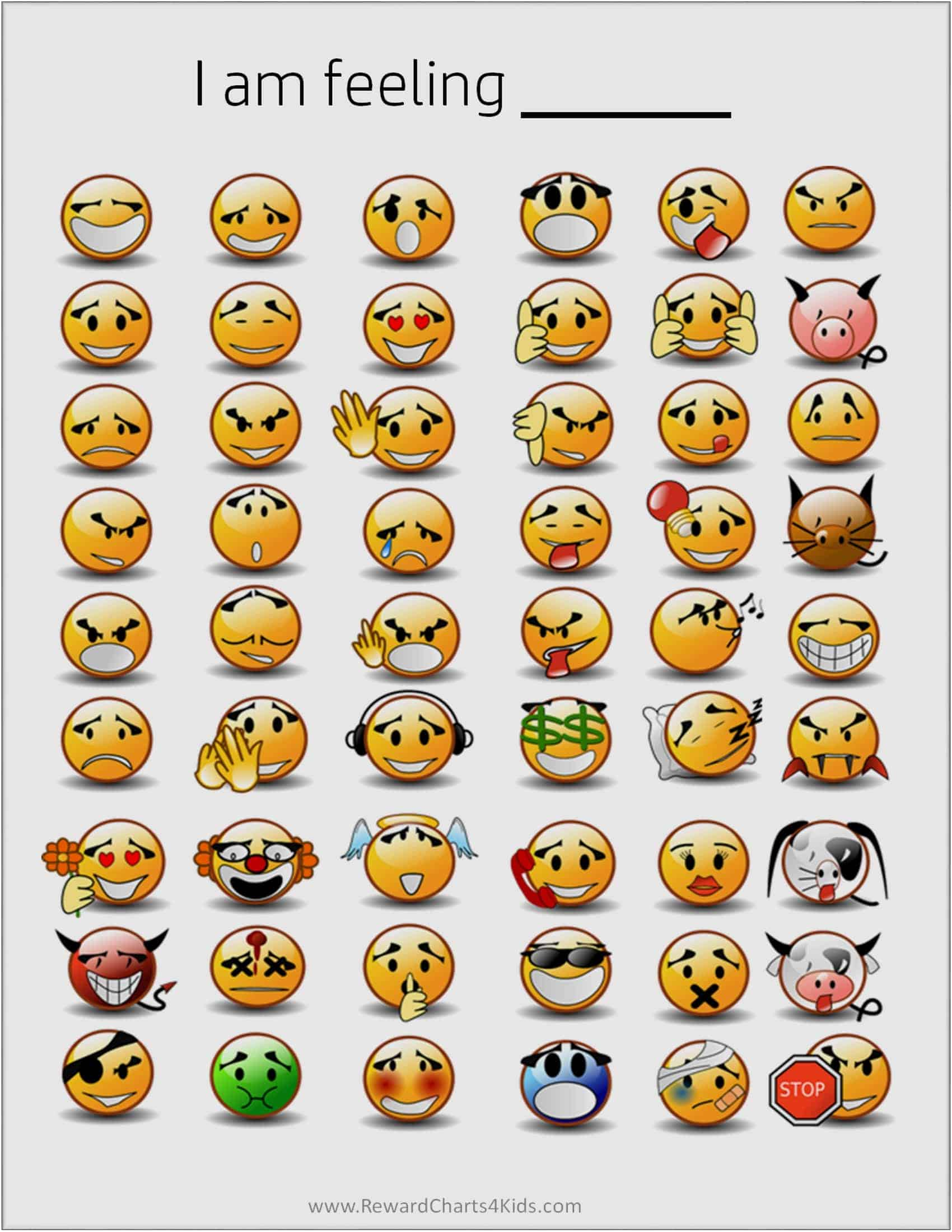 photo relating to Free Printable Emotion Faces named Absolutely free Printable Thoughts Chart Fast Obtain