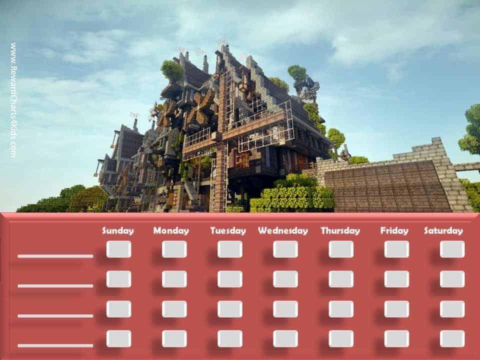 free printable  u0026 customizable minecraft behavior charts