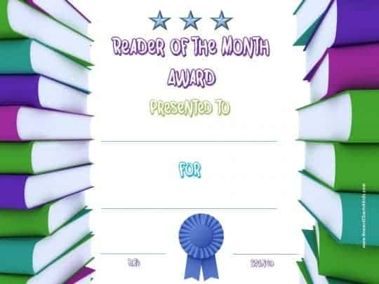 Reader of the month award