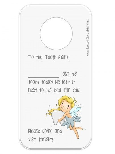 Note to the tooth fairy