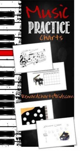 piano practice chart