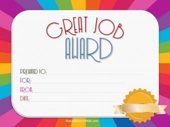 Printable certificate