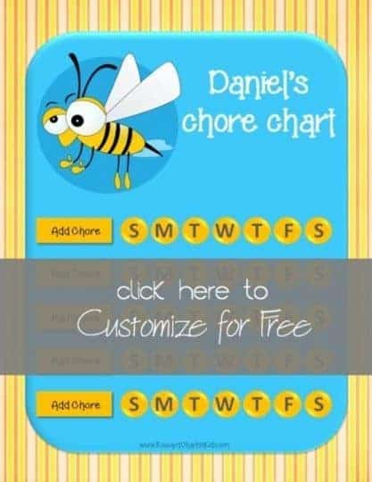 chore chart for children
