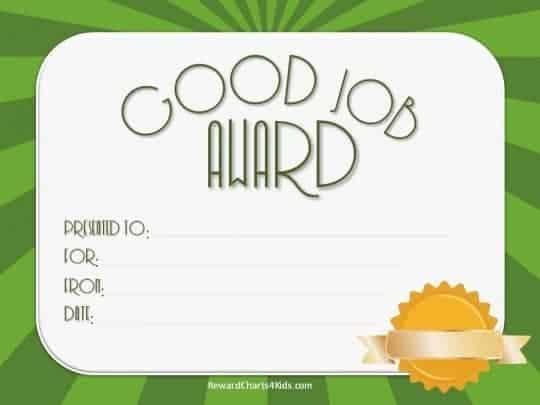good job award