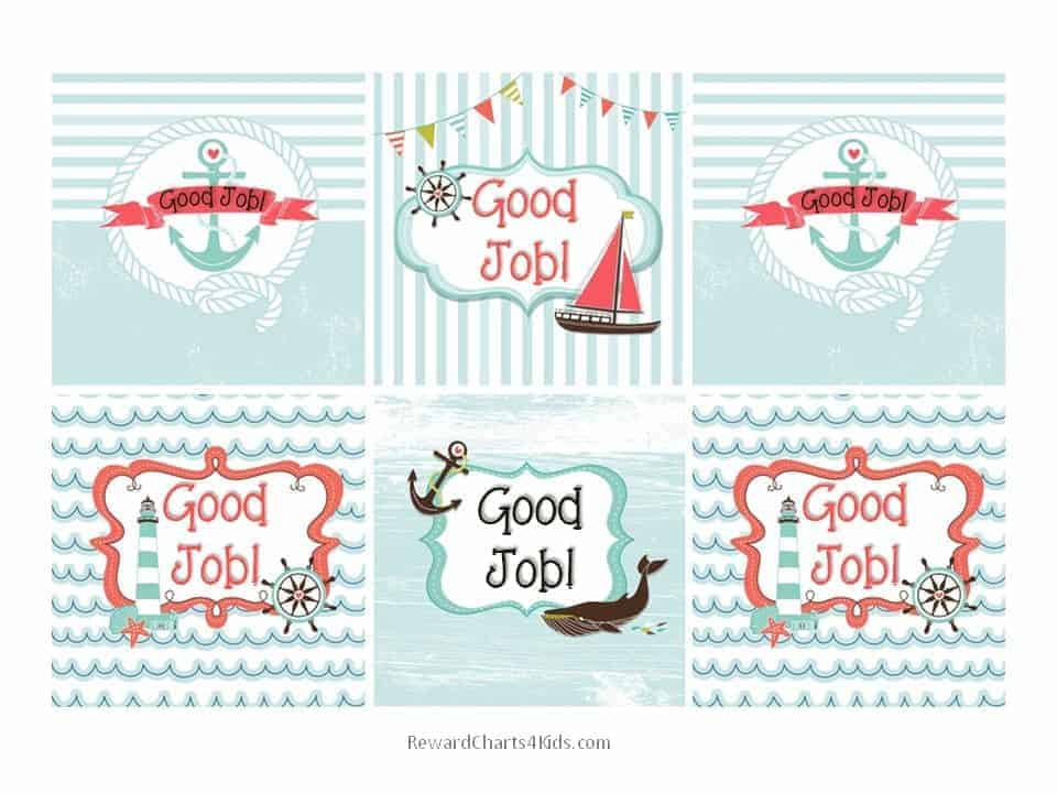 free good job sticker printables