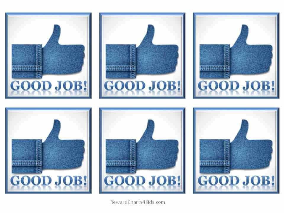 free good job sticker printables