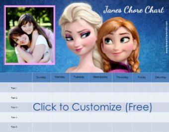 Free Frozen Reward Charts