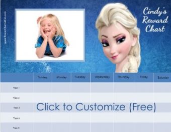 Free Frozen Reward Charts Customize With Your Photo And