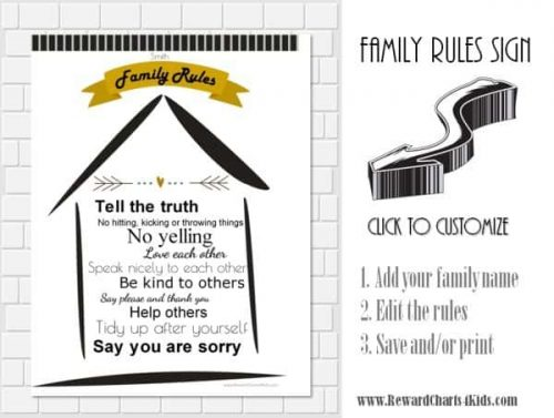 Family rules for kids