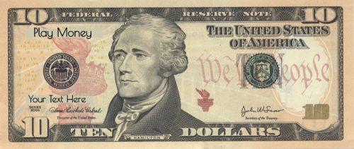 Printable 10 dollar bill