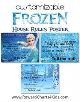 Family rules - Frozen Disney