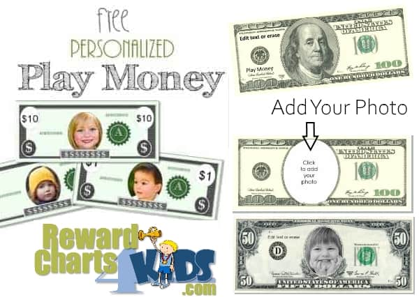 picture about Free Printable Money named No cost Perform Income Printable Template Prompt Down load