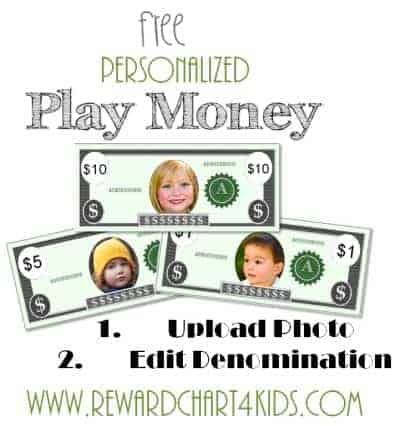 Free Custom Printable Play Money Template