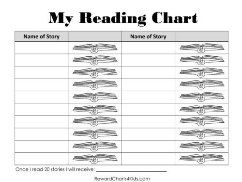 Reading chart for kids