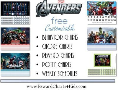 Behavior charts with Avengers