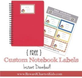 custom notebook labels