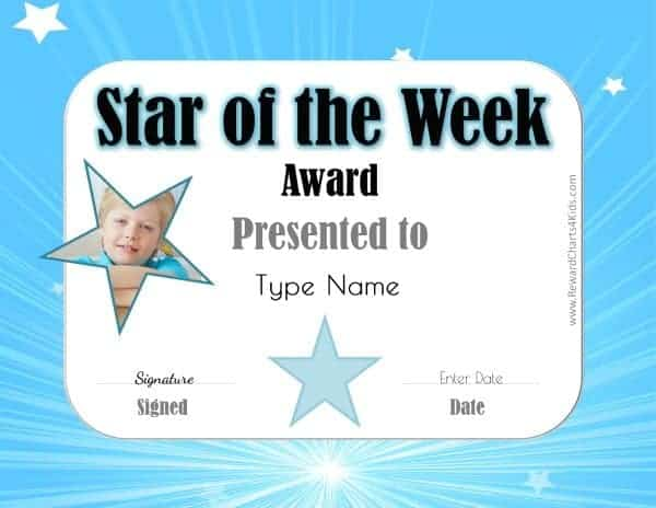 star of the week poster