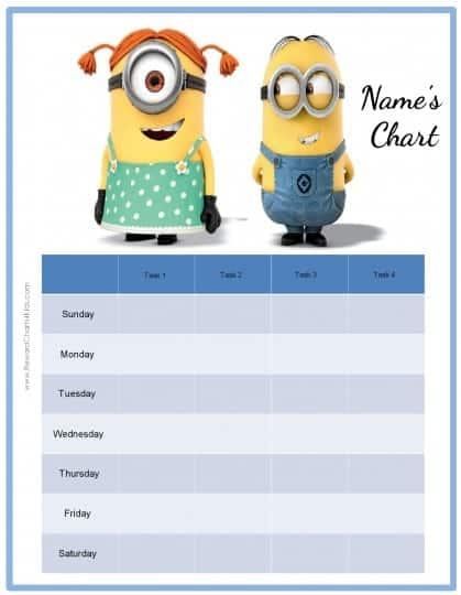 Free printable weekly behavior chart