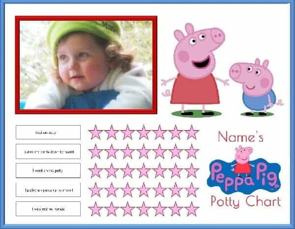 Free Peppa Pig Potty Training Charts | Customize with Your ...