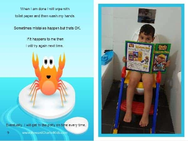 free personalized potty book