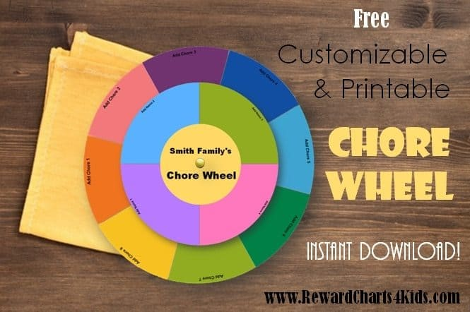 free diy chore wheel