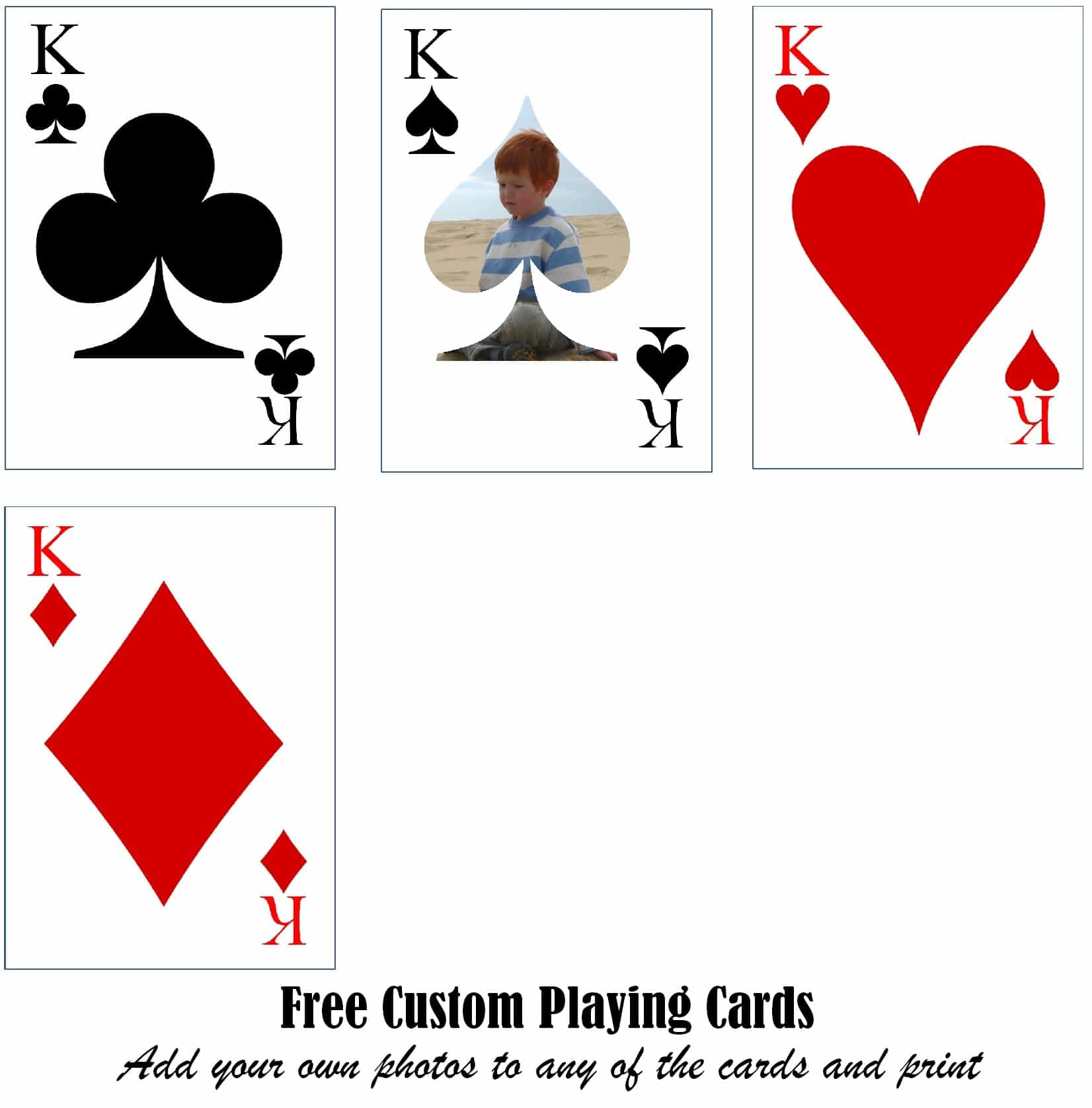 This is an image of Adorable Printable Playing Card