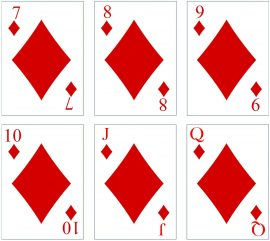 playing cards with your photo