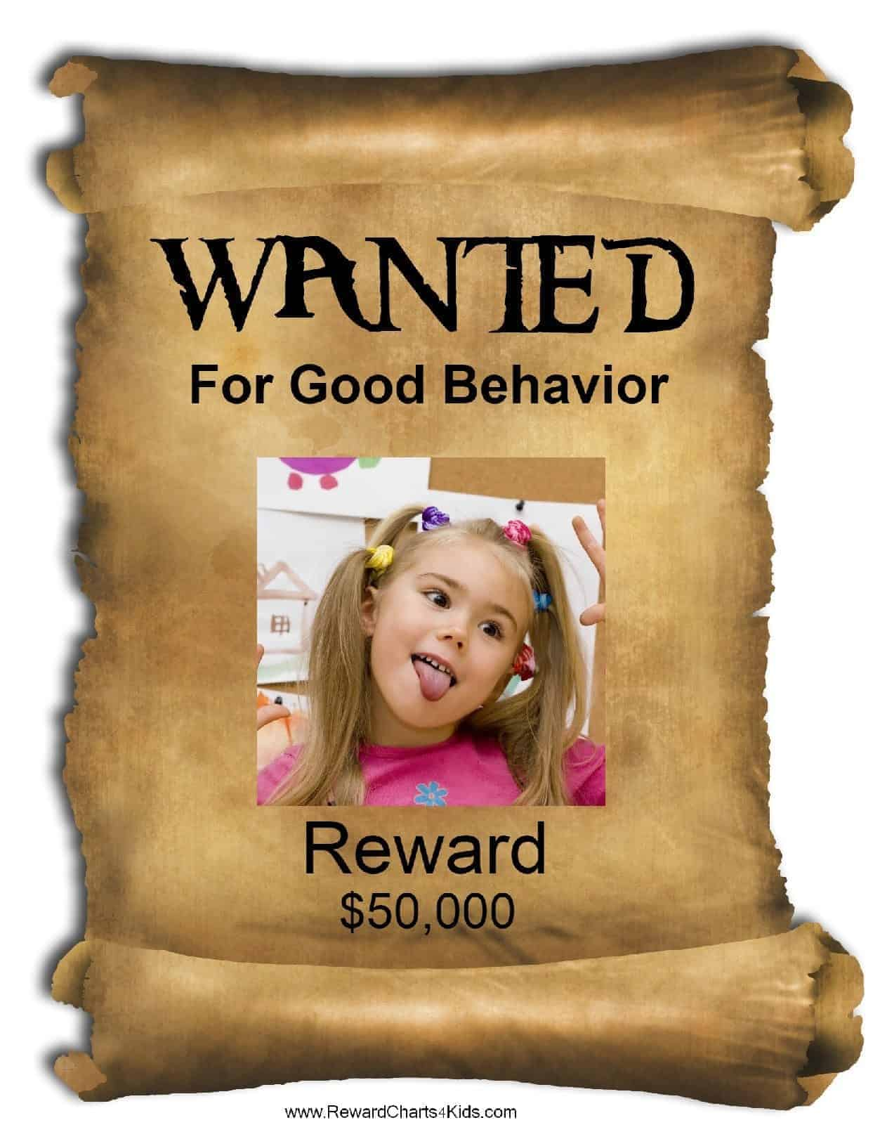 Slobbery image inside free wanted poster template printable
