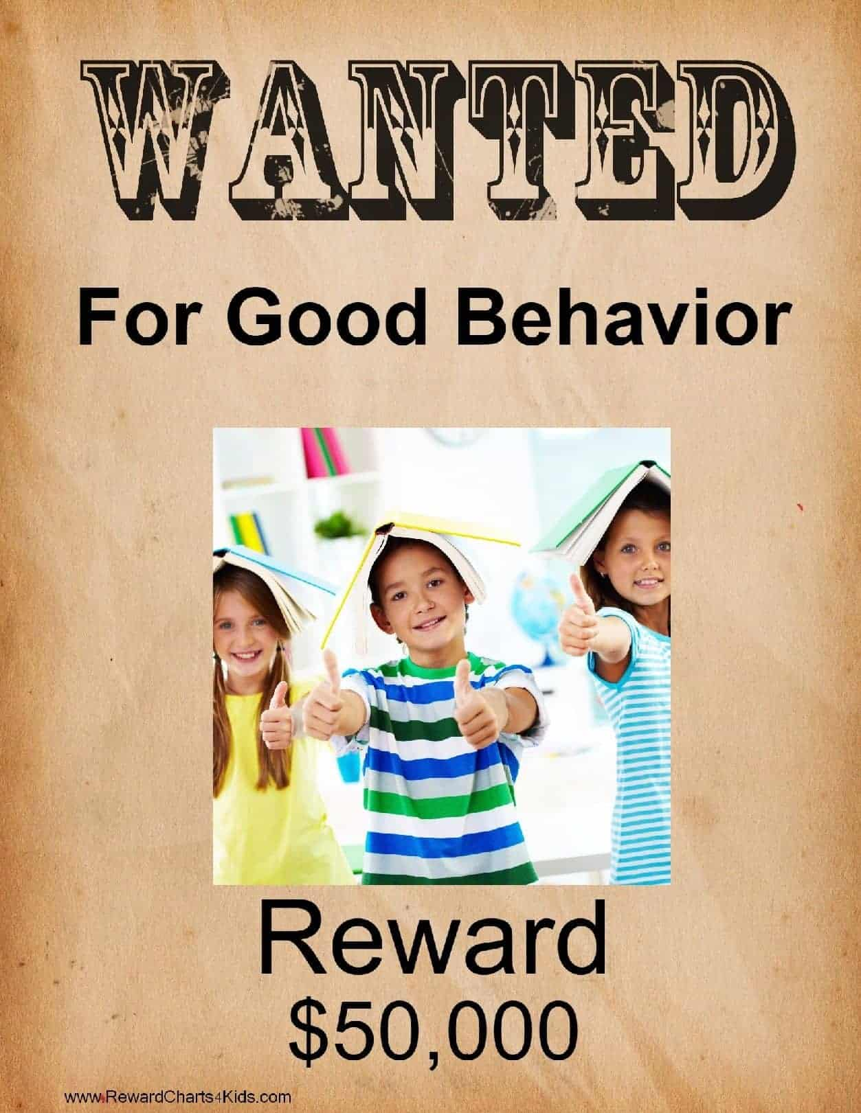 This is a picture of Gutsy Wanted Poster Printable