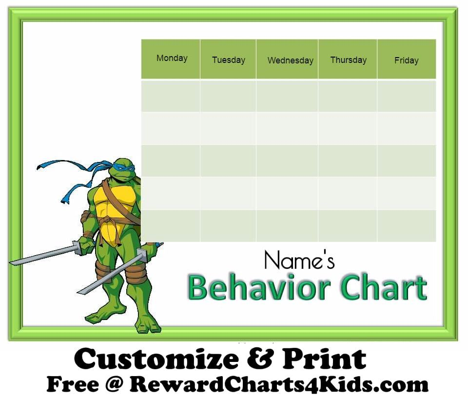 Free Printable Behavior Charts No Registration Required