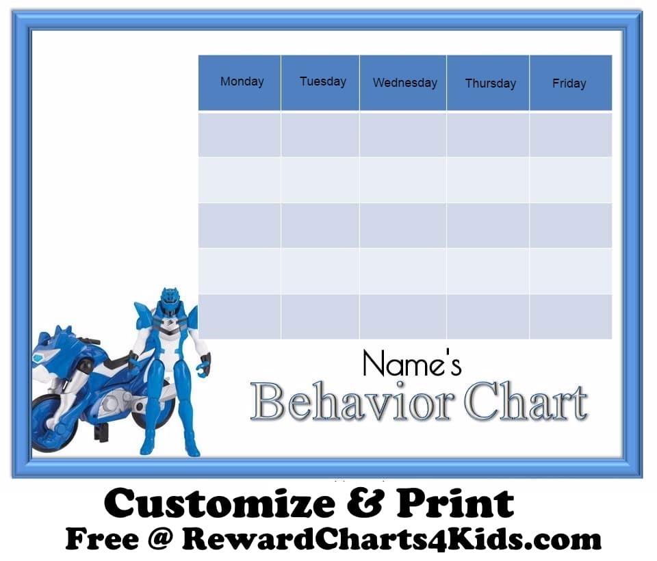 Free Behavior Charts