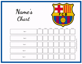 Behavior Chart Template  Kids Behavior Chart Template