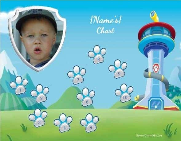 Free Customizable Paw Patrol Charts Instant Download