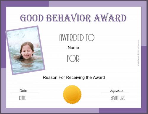 Printable award