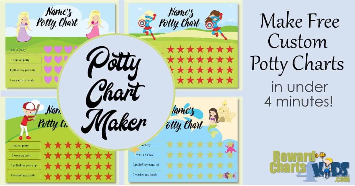Potty Chart Diy Free Online Potty Chart Maker No Registration Required