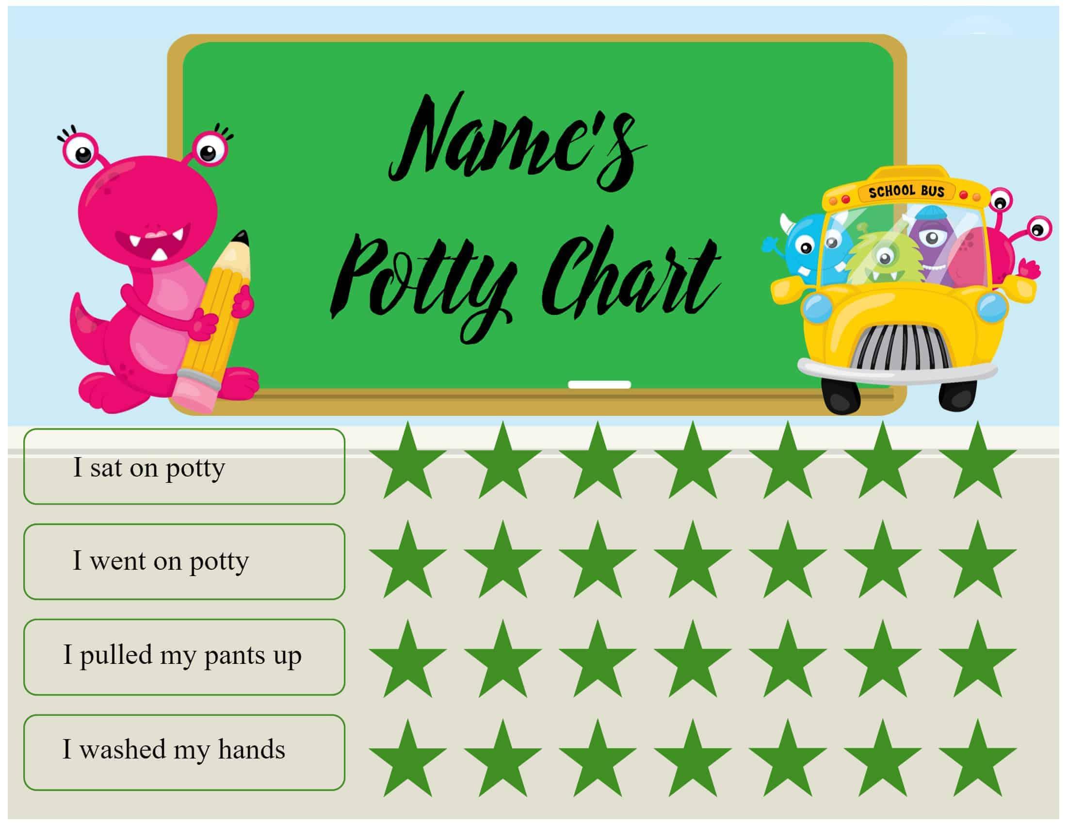 potty chart diy
