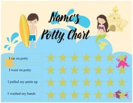 potty training sticker chart