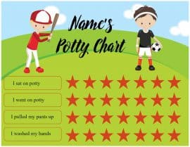 Potty chart DIY