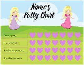 Free printable potty charts