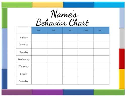 This is a photo of Astounding Free Printable Behavior Chart