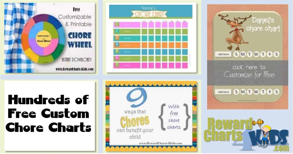 picture relating to Printable Job Chart known as Totally free Printable Chore Chart for Young children Personalize On line